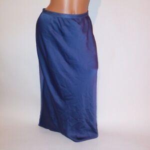 Victoria Secret Lingerie Womens Slip Skirt Solid Blue 100% Polyester XS