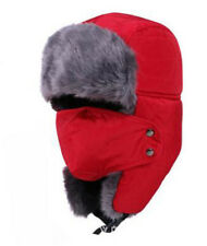 Women's/Men's Winter Windproof Faux Fur Trapper Hat with Detachable Face Mask