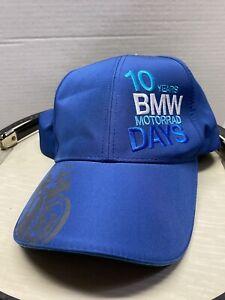 BMW Motorrad Cap Hat 10 Years BMW  Motorrad  Days BlueNew With Tags