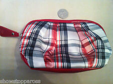 Sisley Paris Cosmetic bag make-up clutch TARTAN, genuine and new Posh  ladies!