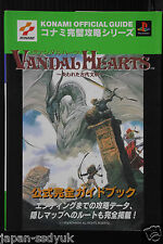 JAPAN Vandal Hearts Official Perfect Guide Book KONAMI
