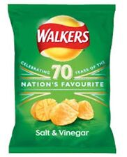 Walkers Crisps Salt & Vinegar  flavour 32.5gm x 32 packs