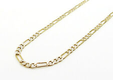 10K Hollow Gold Diamond Cut Figaro Chain 22 Inches 2.5MM 2.6 Grams