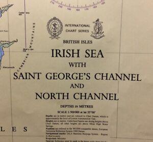 ADMIRALTY SEA CHART. IRISH SEA, St GEORGES CHANNEL. No.1121. British Isles. 1980