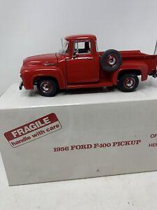Danbury Mint 1956 Ford F-100 Pickup Red Truck 1:24 Diecast Classic