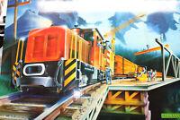 LGB 21990 Bauzug-Set mit Trafo und Gleiskreis Spur G OVP