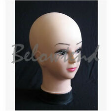 PVC Plastic Props Womens Femal Makeup Practice Mannequin Head FOR Wigs Hats G