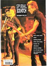 CLASH, Vibrators, Darling Buds Spiral Scratch RARE MAGAZINE Nov 1990