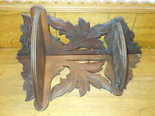 Antique Victorian Walnut Folding Corner Shelf - A Couple Breaks