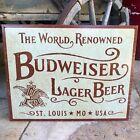 Budweiser Lager Beer Retro Metal Beer Sign Tin Tacker