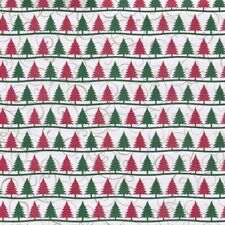 5 sheets Scrapbook Paper CHRISTMAS TREES - GLITTER Reminisce CT004