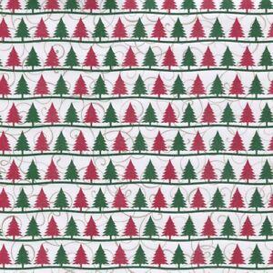 1 sheet Scrapbook Paper CHRISTMAS TREES - GLITTER Reminisce CT004