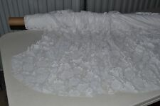"Stretch Allover Lace White Rose 58"" Wide Nylon Spandex Fabric by the Yard"