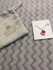 Kendra Scott Azalea Illusion Pink Gold Long Pendant Necklace Jewelry