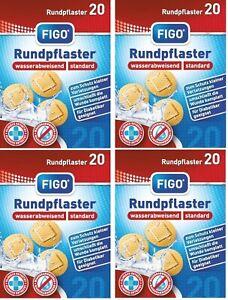 80 Pflaster rund Wund Pflaster runde Form Rundpflaster MHD 2023 Figo Injektion