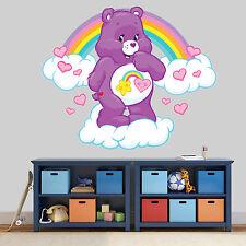 NUOVO XL 216 Care Bear Rainbow Cloud Sticker Stanza Ragazzi Ragazze Vinyl Wall Art Decalcomania
