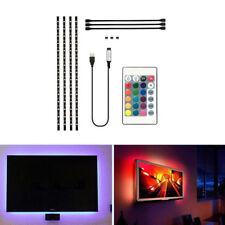 4Pcs USB Powered RGB 5050 LED Strip Lighting for TV Computer Background Light US