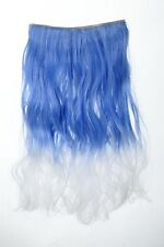 Extension Hair Extension Clip-In 5 clip lockig bi-coloured Ombre blue-white 50cm