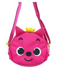 Pink Fong Face Shaped MIni Cross Pouch Bag for Kids