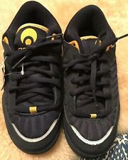 Vintage Osiris Navy Blue Yellow/Gold  Skate Shoes Size Men's 7.5 Deadstock