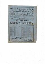 More details for 1930/31 west ham united v derby county football programme
