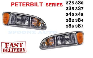 2005-2016 PETERBILT PETE 382 384 Headlight 16-09190L 16-09190R W/BULB - PAIR
