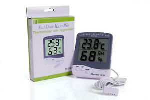 Digital LCD Indoor/Outdoor C/F Thermometer Hygrometer Temperature Humidity Meter