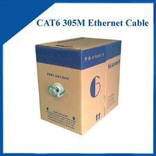 305m/1000ft Cat6 Ethernet Lan cable BLUE color