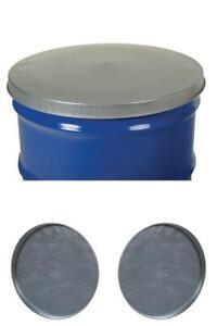 55 Gal Drum Lid Cover Open or Closed Head Galvanized Steel Burn Barrel Top Rim
