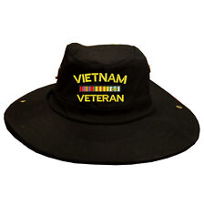 100% Cotton Military Boonie Bush Hiking Outdoor Hat VIETNAM VETERAN RIBBON
