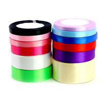 25 Yards Colorful Satin Ribbon Bow Wedding Party Craft Sewing Decoration Gifts R
