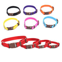 Adjustable Dog Puppy Cat Pet Safety Nylon Necklace Buckle Neck Collar SizeS-%P