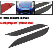 2x Headlight Eyelids Eyebrows Cover Durable L&R Fit For 03-08 Nissan 350Z Z33