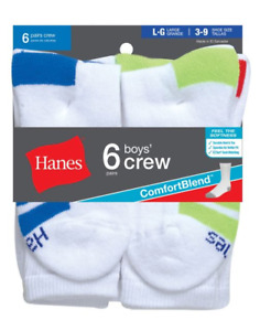 Boys' Crew ComfortBlend® Assorted Socks 6-Pack