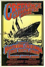 Creedence Clearwater Revival 1969 Fillmore West Concert Poster