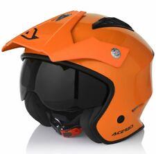 Casco Jet Moto Trial Acerbis aria colore Arancio visierino Parasole Taglia S