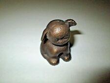 "Vintage PUP Cast Iron Paper Weight Puppy Dog Figurine 2"""