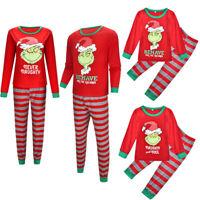 Family Matching Christmas Pajamas Set Women Men Baby Kids Sleepwear Nightwear