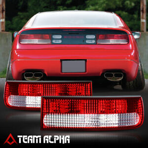 Fits 1990-1996 Nissan 300ZX Fairlady Z32 Crystal Red/Clear Brake Lamp Tail Light