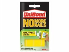 Unibond No More Nails REMOVABLE Strips Yellow Tape For Indoor & Outdoor Use