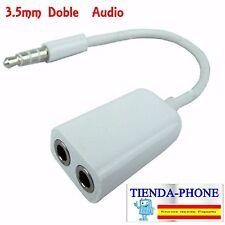 Separador para dos auriculares Adaptador Doble Jack Duplicador Jack earphone