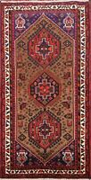 Geometric Traditional Hamedan Hand-knotted Area Rug Tribal Oriental 3'x6' Carpet