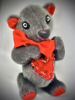 ooak artist teddy bear miniature mini fribbles SILVER.