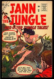 Jann of the Jungle #15 Nice Early Silver Age Atlas Comic 1957 FN-