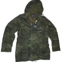 Abercrombie & Fitch men's military camo Field Jacket size SMALL