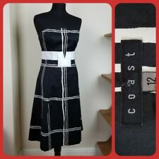 Lovely Coast Dress Size 12  Black/Pattern Strapless Wedding Occasion