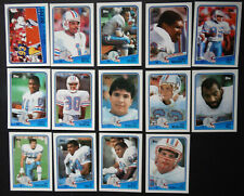 1988 Topps Houston Oilers Team Set of 14 Football Cards