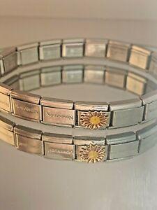 Genuine Nomination 17 Link Bracelet Plus Enamel Sunshine Link  - Silver #W/3