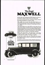 1924 Old Vintage Maxwell Club Sedan Coupe Motor Car Automobile Art Print Ad