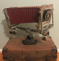Graflex Graphic View 4x5 Large Format Camera With Graflex Optar 135mm f/4.7 Lens